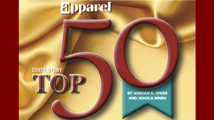 "Congratulations to Our 2017 Apparel ""Top 50"" Customers"