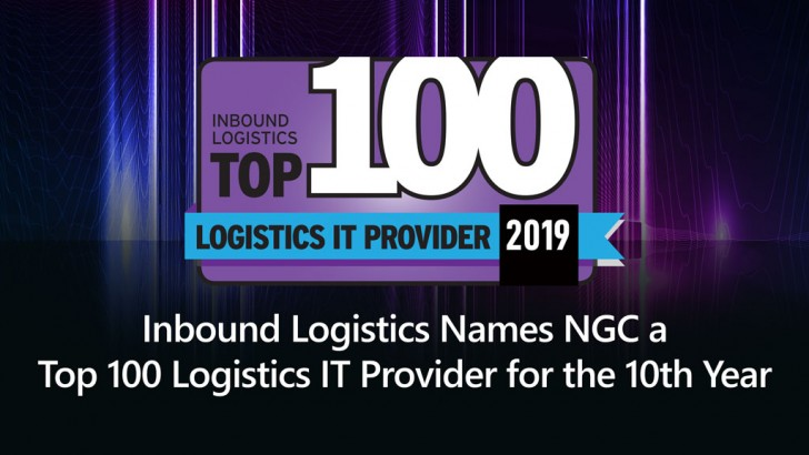 NGC Named Inbound Logistics Top 100 Logistics IT Provider for 10th Year