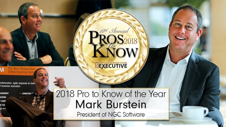 NGC Software's Mark Burstein Named Supply & Demand Chain Executive's 2018 Pro to Know of the Year